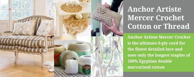 Anchor Artiste Mercer Crochet Cotton