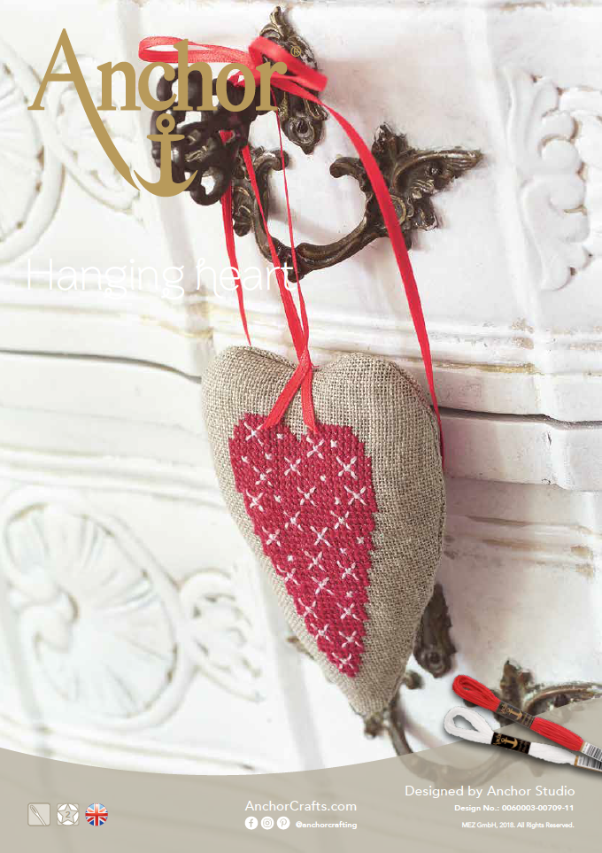 Anchor Christmas Hanging Heart chart