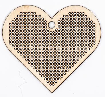 Stitchable Wooden Pendant - Heart