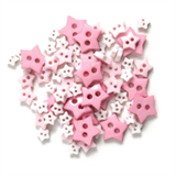Craft Buttons - Pink Stars (2.5g Pack)