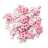 Craft Buttons - Pink Stars (2.5g Pack)
