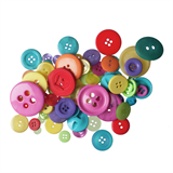 Craft Buttons - Assorted Brights (60g Pack)