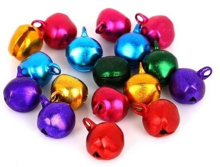 12mm Jingle Bells - Pink