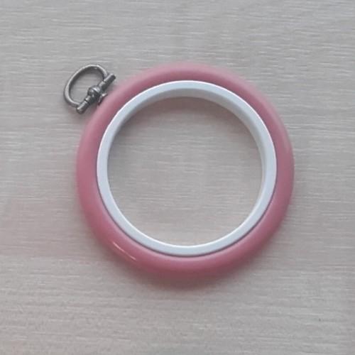 2.5in Round Coloured Flexi Hoop - Dark Pink