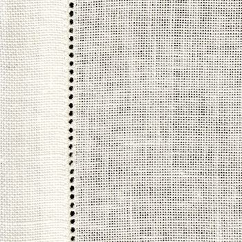 28 Count Cashel White Table Runner 100 x 50cm (39 x 19.5in) - Full Metre
