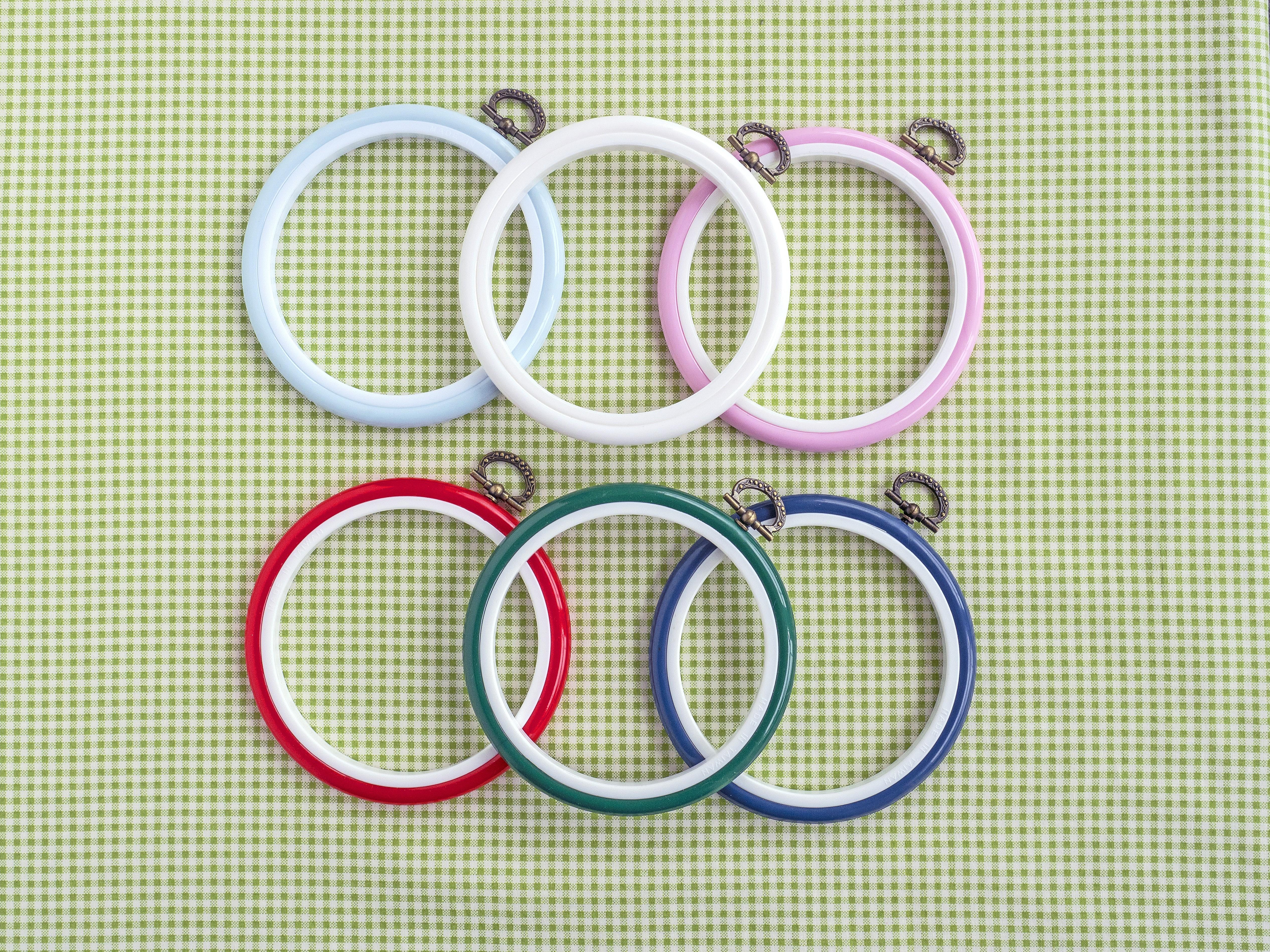 4 Inch Plastic Flexi-Hoop 3 Pack - Light