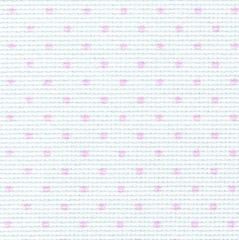 14 Count Aida White with Pink Spots