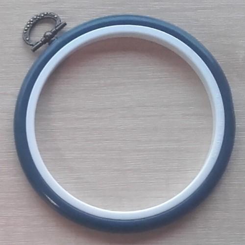 4in Round Coloured Flexi Hoop - Dark Blue