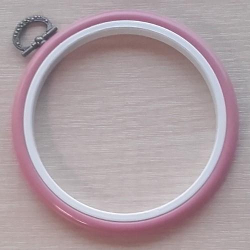 4in Round Coloured Flexi Hoop - Dark Pink