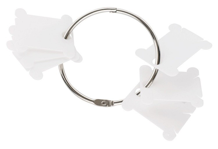 6105 - 28 DMC Plastic Floss Bobbins With Metal Ring