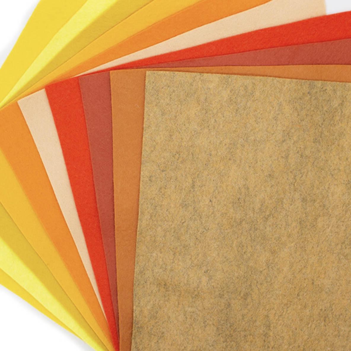 Felt Jelly Roll - Citrus colours 6