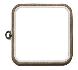 6 Inch Square Woodgrain Effect Flexi-Hoop