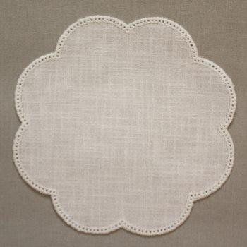 20cm Flower Crochet Doilies - Cream 20cm / 7.5in