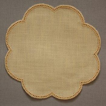 20cm Flower Crochet Doilies - White 20cm / 7.5in