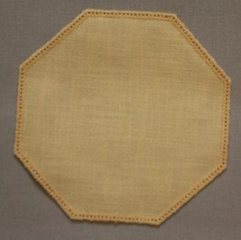 19cm Octagon Crochet Doilies - White 19cm / 7in