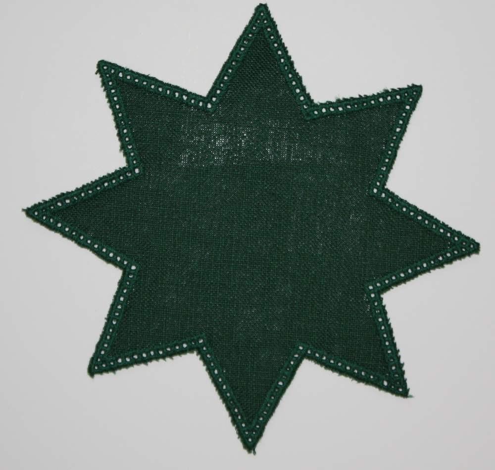 20cm Star Crochet Doilies - White 20cm / 7.5in