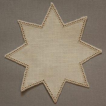 20cm Star Crochet Doilies - White/Gold 20cm / 7.5in