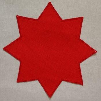 32cm Star Crochet Doilies - White 32 x 32cm / 12.5 x 12.5in