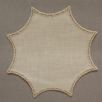 20cm Rosette Crochet Doilies - Cream 20cm / 7.5in