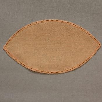 25cm Petal Crochet Doilies - Green 25 x 14cm / 10 x 6in