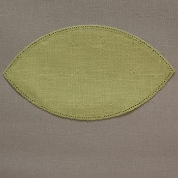 25cm Petal Crochet Doilies - Lemon 25 x 14cm / 10 x 6in