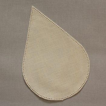 16cm Teardrop Crochet Doilies - Cream 16 x 24cm / 6.5 x 9.5in