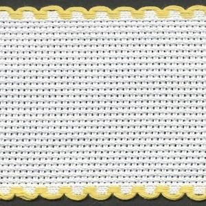 2in / 5cm White / Yellow Edged Aida Band - 1m