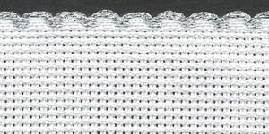 1.5in / 3cm White / Silver Edged Aida Band - 1m
