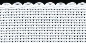 1.5in / 3cm White Aida Band - 1m