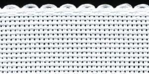 3in / 8cm White Aida Band - 1m