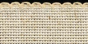 1.5in / 3cm Oatmeal Fleck (25% Linen) Aida Band - 1m