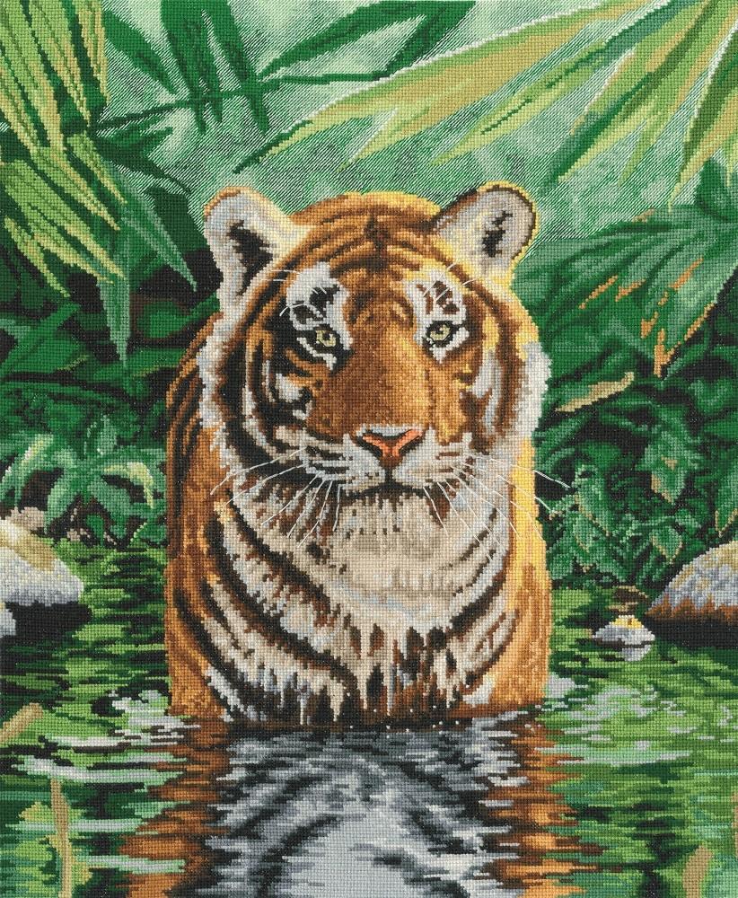 BK1151 - Tiger Pool Cross Stitch Kit