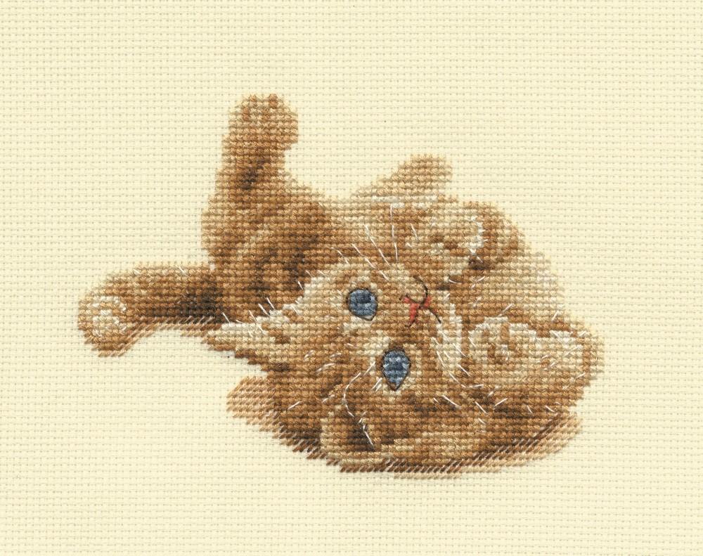 BK904 - Kitten Playing Cross Stitch Kit