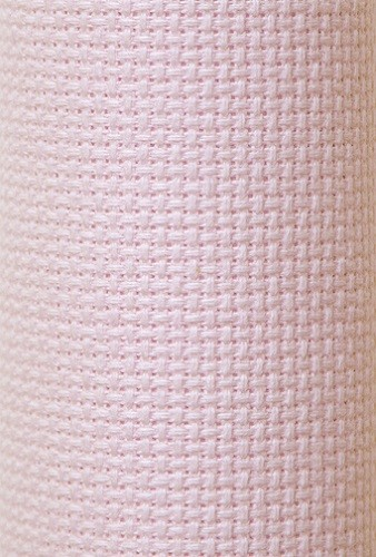 Charles Craft 14 Count Aida Pink - 15 x 18in (38 x 45cm)