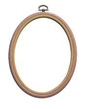 Oval Woodgrain Effect Flexi Hoops