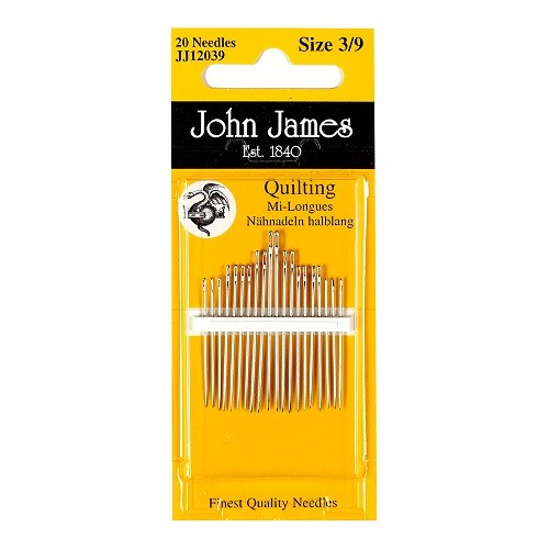 John James Quilting Needles - Size 3/9