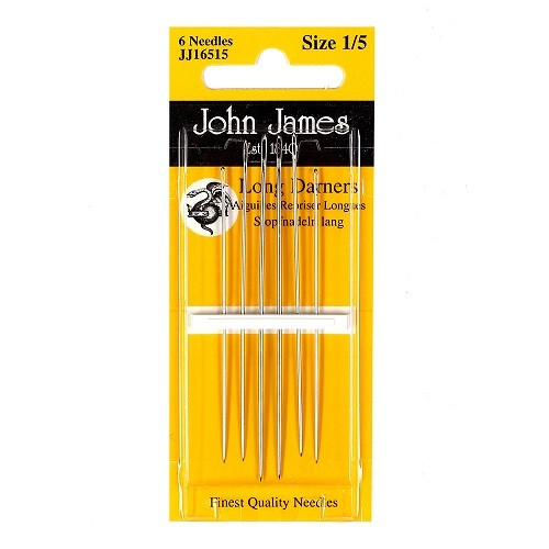John James Long Darner Needles - Size 7