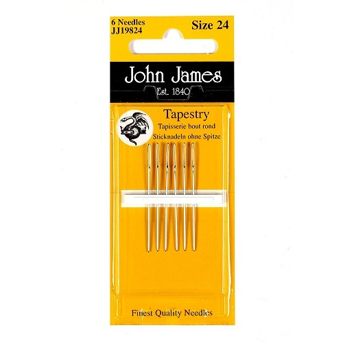 John James Nickel Plated Tapestry Needles - Size 24