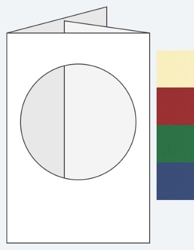 88 x 114mm Circle Aperture Card & Envelope - Various Colours