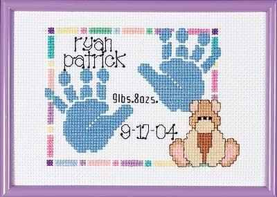 SGP-0604 - Baby Handprints Birth Announcement