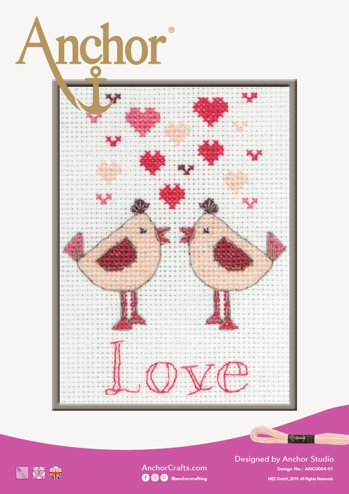 Anchor Lovebirds cross stitch chart