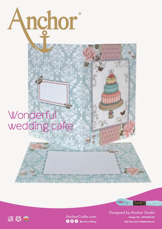 Anchor Wonderful wedding cake cross stitch chart