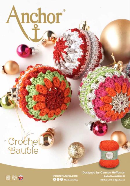 Anchor Crochet Bauble
