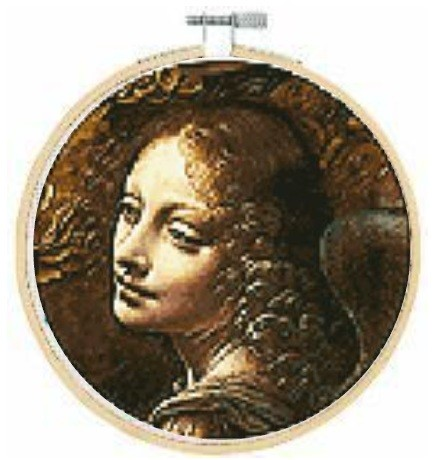 BL1211/71 - Angel, from the Virgin of the Rocks Cross Stitch Kit