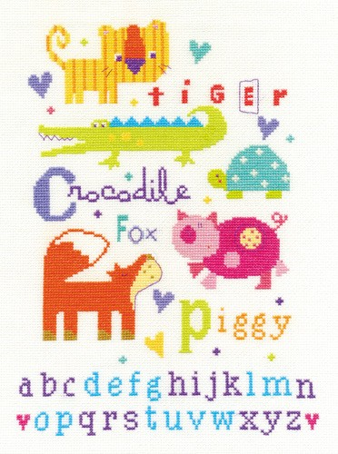 DMC BK1559 - Animal Alphabet Cross Stitch Kit