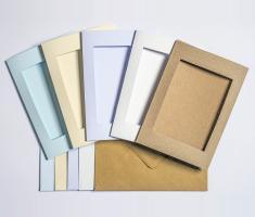 7 x 5in Aperture Cards & Envelopes - 5x Kraft