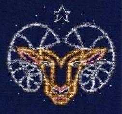 DMC Aries Cross Stitch Kit BK1862