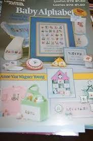 Leisure Arts Baby Alphabet Cross Stitch Chart Leaflet