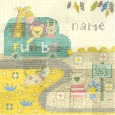 BK1560 - Baby Bus Stop Cross Stitch Kit