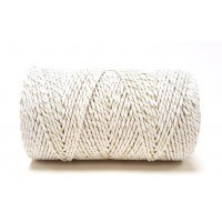 Baker's Twine White With Gold Sparkle 100m Roll